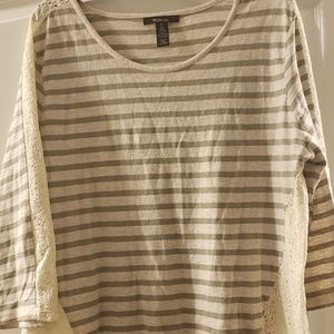 Ladies green and beige Style & Co top size XL
